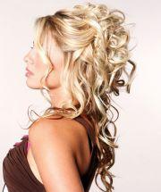 partial updos long hair wedding