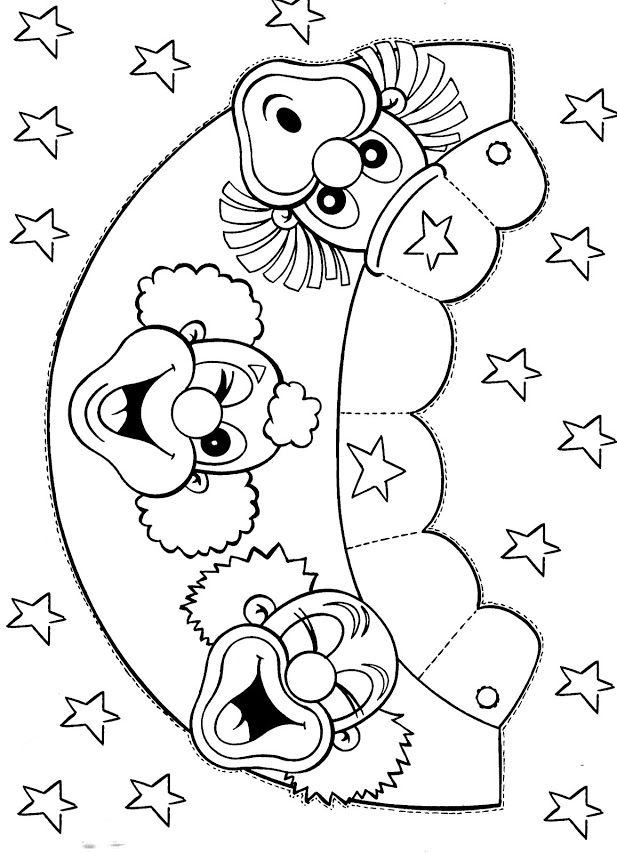 Circus Elephant Coloring Pages Ideas To Kids Clipart Best