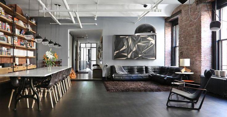 Un loft a Manhattan New York con interni in stile