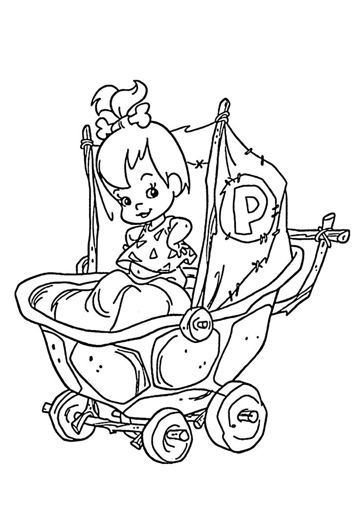 Pebbles coloring pages for kids, printable free