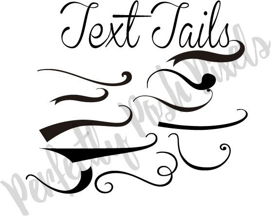 Text Tails Text Swoosh svg eps pdf instant download