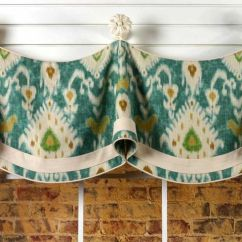 Kitchen Valance Patterns Sink Cabinet Claudine Curtain Sewing Pattern Mounted On Knobs ...