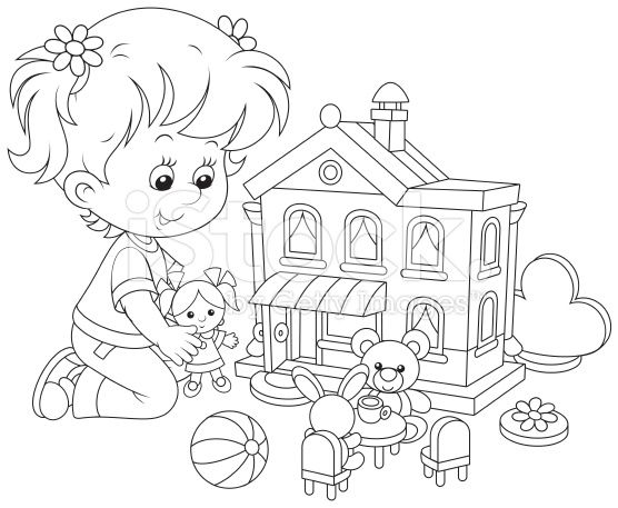 17+ best images about coloriage petite fille on Pinterest