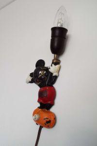 Rare Vintage 1952 Mickey Mouse Wall Lamp Wall Light Oluk ...