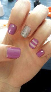 purple gel nail. nails