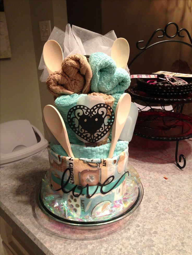 Dish towel cake For a bridal shower  My Creations  Pinterest  Towels Dish towels and House