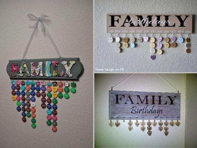 Creative family birthday board idea do it yourself