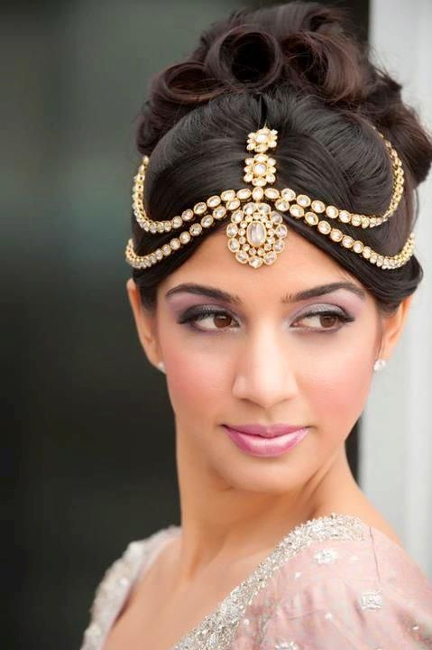 Headpiece damini for wedding  Purple lavender  violet Decor  Pinterest  Beautiful Hair