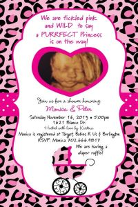 Pink sweet safari cheetah baby shower invitation | Sweet ...