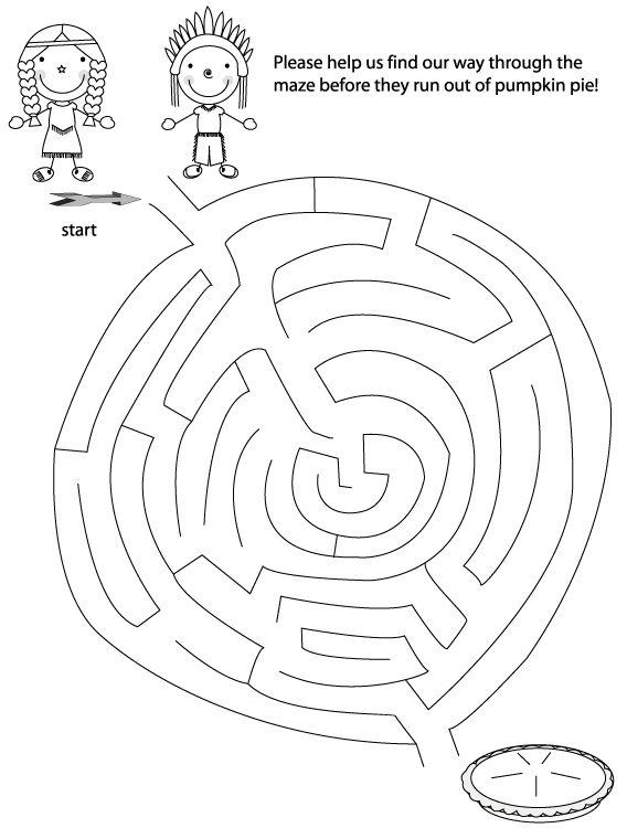 thanksgiving maze printable, thanksgiving mazes