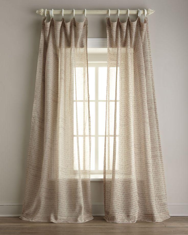 Httparchinetixcomindia S Heritage Inc Script Print Sheer Linen Curtains P 2349html Http