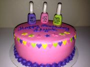 nail polish theme birthday cake