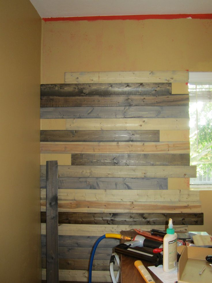 Faux Wood pallet wall Buying inexpensive Pine boards for