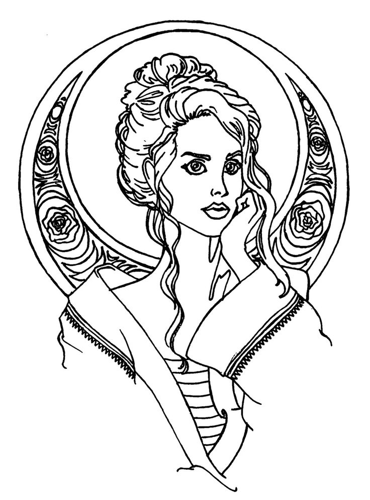 Sirens of Song Adult Coloring Book Pages (Digital Download