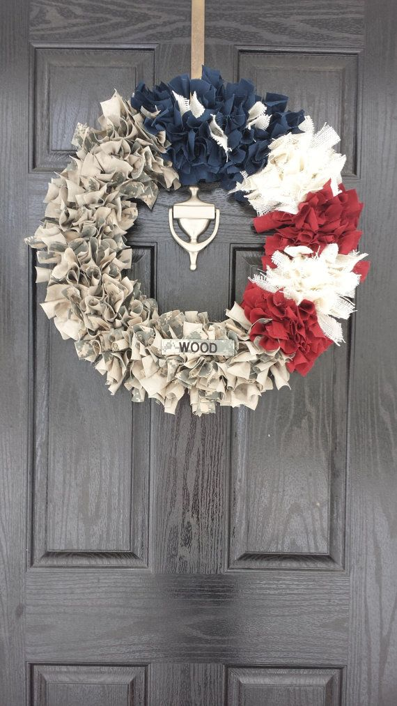 22 Inch Patriotic Military Wreath NavyAFArmyMarine