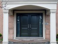 Elegant Black Wood Panel Masonite Exterior Entry Doors ...