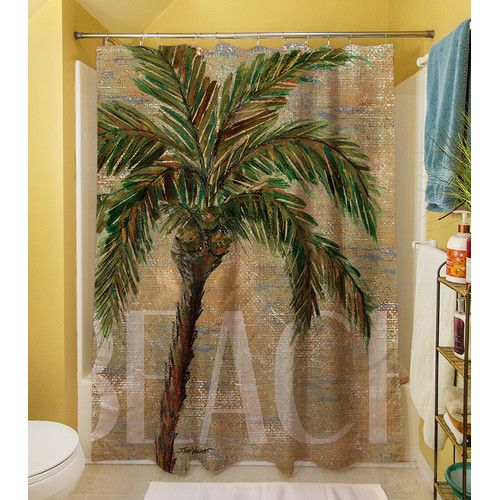 28 Best Images About Palm Tree Shower Curtain And Bath Accessories