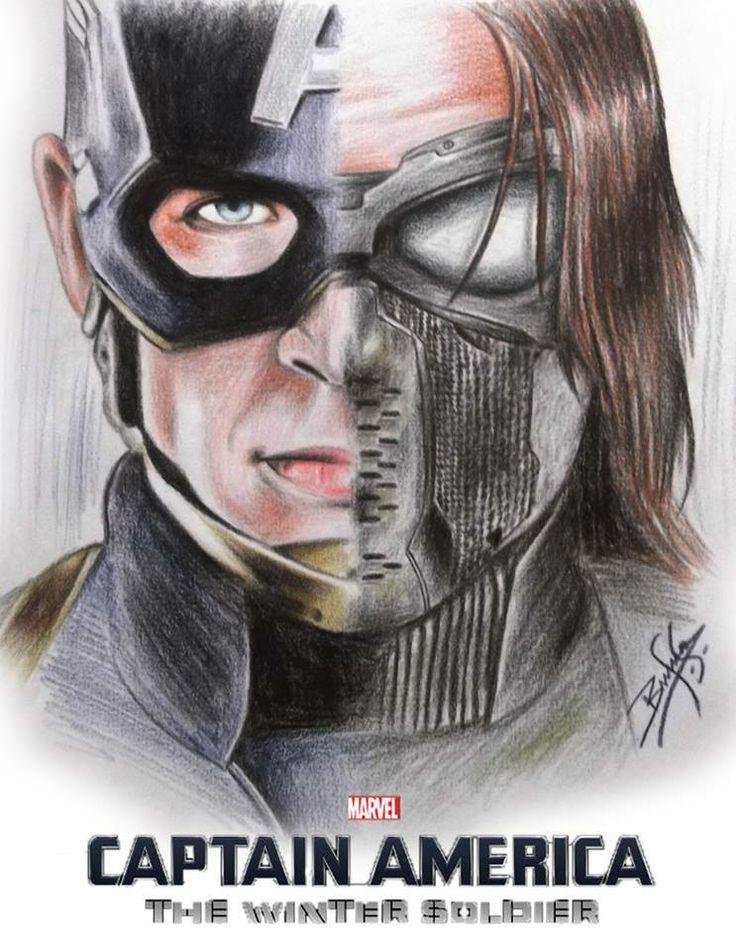 Cute Cap Bucky Iphone Wallpaper Captain America The Winter Soldier Heroes Villans