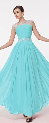 Modest prom dresses, Prom dresses and Aqua blue on Pinterest