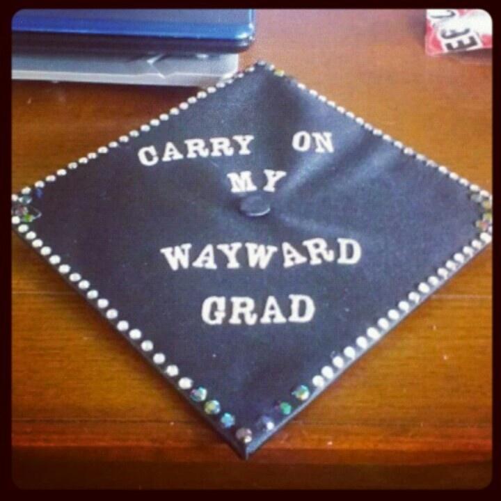Decorated Graduation Cap #supernatural #diy Grad Cap
