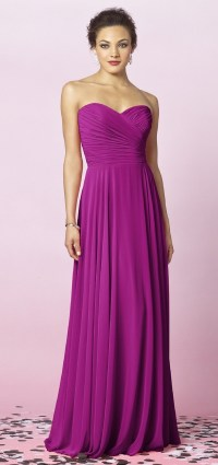 After Six Floor Length Magenta Bridesmaid Dress, STYLE