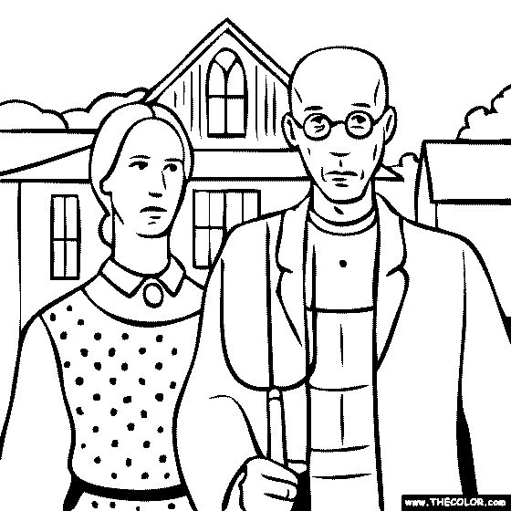 17 Best images about Grant Wood Art Projects on Pinterest