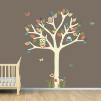 Nursery Wall Decal, Owl Tree Decal, Owl Art, Owl tree wall