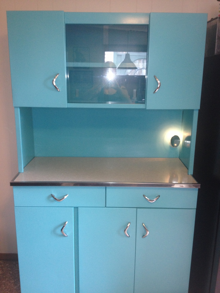 Refinished 1950s metal hutch  My Work  Pinterest  Metals