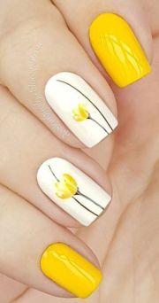 ideas yellow nail