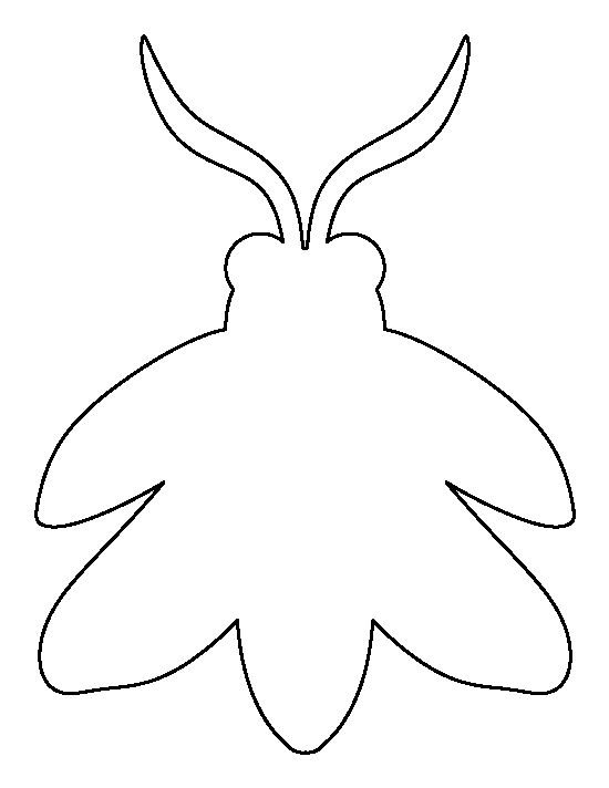 Firefly pattern. Use the printable outline for crafts