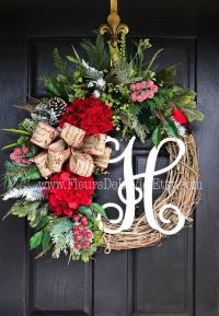 1000+ ideas about Letter Door Wreaths on Pinterest | Twine ...