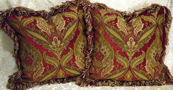 Designer Throw Pillows Decorative Old World Tuscan