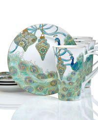 222 Fifth Holiday Lakshmi Peacock Collection - Serveware ...
