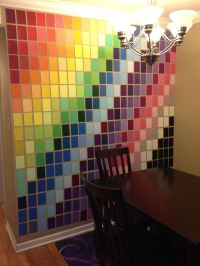 wall art made with paint samples from home depot. | Art ...