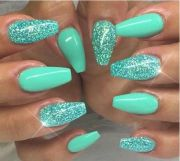 ideas teal nail