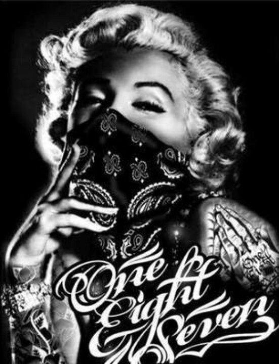 Gangsta Marilyn Gangster Monroe