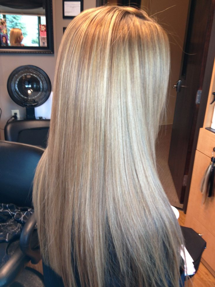Blonde Highlighted Hair With Keratin Treatment Hair By
