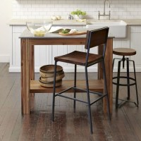 Rustin Kitchen Island: acacia wood frame, stainless steel ...