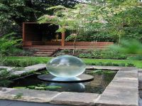 Exterior, Transparent Glass Ball Beautify Contemporary