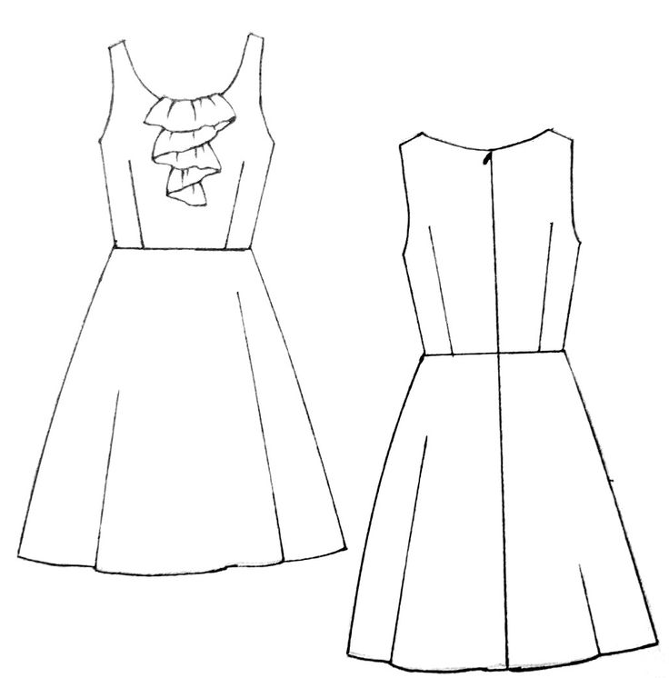 17 Best images about Dress Line Drawings on Pinterest