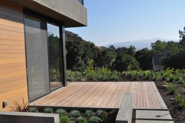 concrete stepping pads ipe' deck