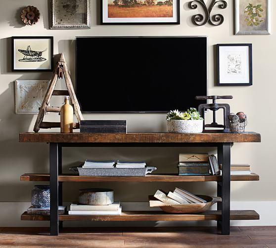 17 Best Ideas About Shelves Around Tv On Pinterest Photo