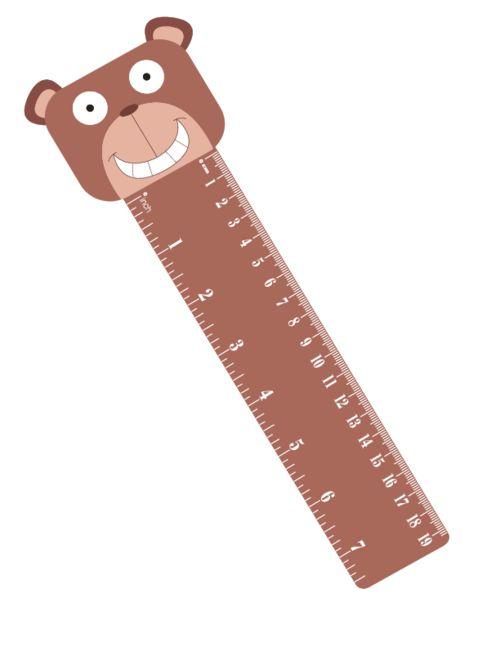Bookmark Ruler Bear