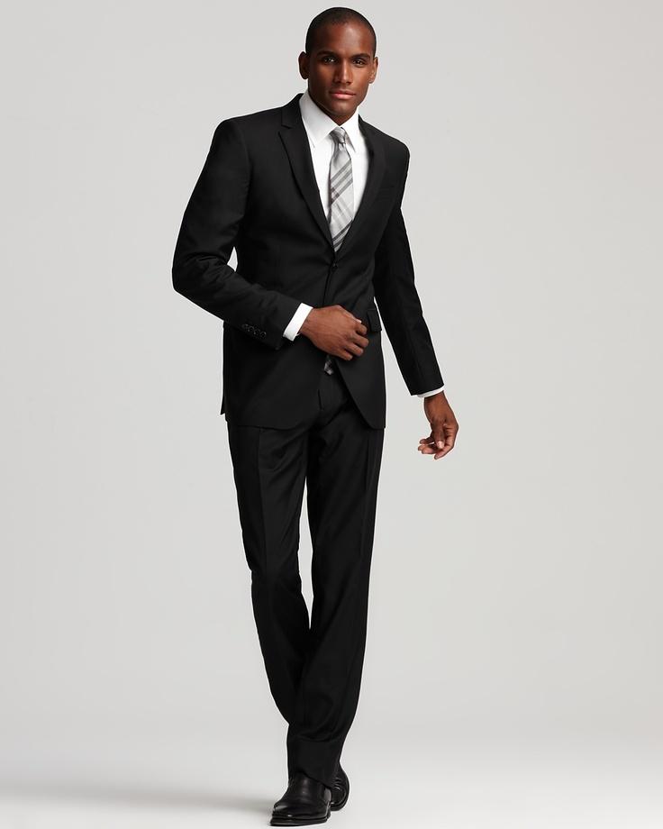 black man black suit