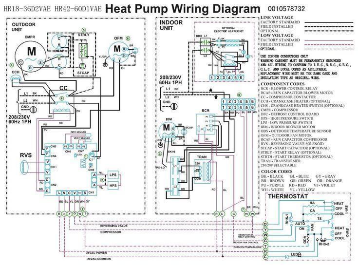 heat pump fan motor wiring diagram