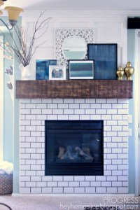 20+ best ideas about Subway Tile Fireplace on Pinterest ...