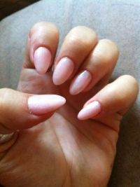Light Pink Shimmer Gel Nails | My Work | Pinterest | Pink ...