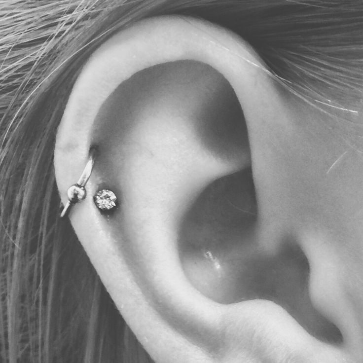 Double Helix Double Cartilage Piercing Hoop And Stud