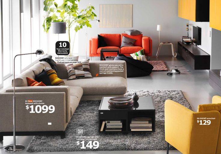 Nockeby Loveseat with Chaise  IKEA Catalog 2015  Living