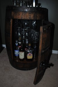 How To Make A Whiskey Barrel Liquor Cabinet Plans DIY Free ...
